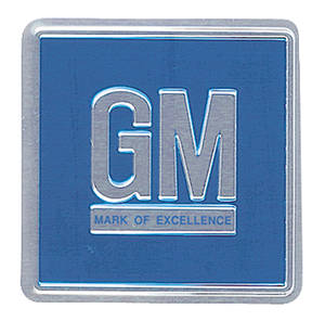 "1970-1977 Monte Carlo Mark Of Excellence Decal, ""GM"" (Blue)"