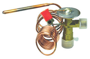1967-1973 Fleetwood Air Conditioning Expansion Valve (Factory Style) with Straight Sensor Bulb