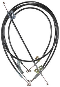 1964-1965 Chevelle Heater & Air Conditioning Control Cable 4 Cables, by Old Air Products