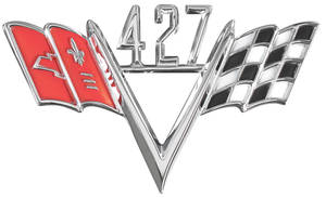 1964-77 Chevelle Fender Emblem, V-Flags 427