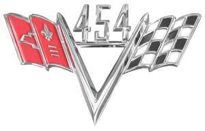 1964-77 Chevelle Fender Emblem, V-Flags 454