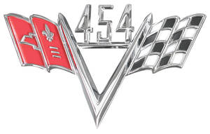 1978-88 Malibu Fender Emblem, V-Flags 454
