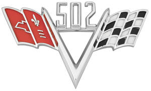 1964-77 Chevelle Fender Emblem, V-Flags 502