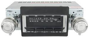 1966-1967 El Camino Stereo, Vintage Car Audio 100 Series Black