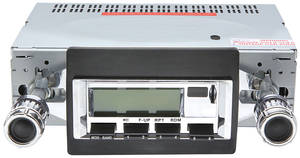 1970-72 Chevelle Stereo, Vintage Car Audio 100 Series Chrome - SS