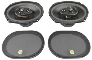 1961-1971 Tempest Stereo Speakers KHE – 3-Way, 120 Watts, by Vintage Car Audio