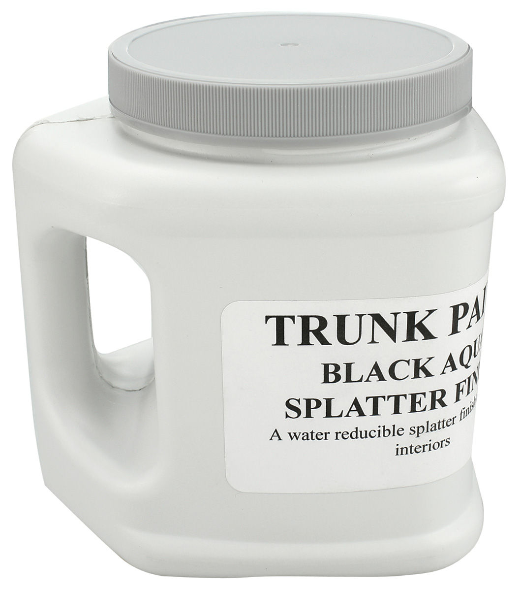 Photo of Trunk Spatter Paint (Quart Bottle) black/aqua
