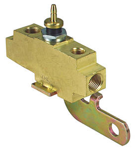 1968-69 Tempest Brake Fluid Distribution Block (Brass w/Phosphate-Plating)