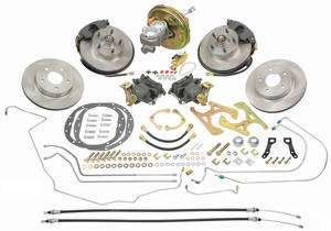 1964-66 Chevelle Brake Conversion Kits, Front & Rear Disc Standard Booster Deluxe Kit