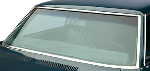 1966-67 Skylark Windshield Glass 4-Door Hardtop/Sedan/Wagon Green w/Tint, w/o Antenna