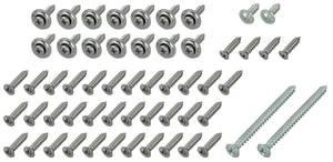 1966 Interior Screw Kit, Chevelle 4-Door 56-Piece
