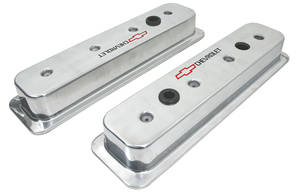 1978-88 Monte Carlo Valve Covers, Chevrolet Aluminum Center Bolt (Small-Block) Polished, by GM