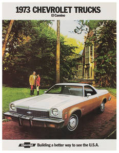 1973-1973 El Camino El Camino Color Sales Brochures