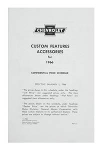 1966-1966 El Camino Chevrolet Accessory Listings & Price Schedule