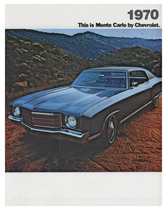 1970 Monte Carlo Full-Color Sales Brochure