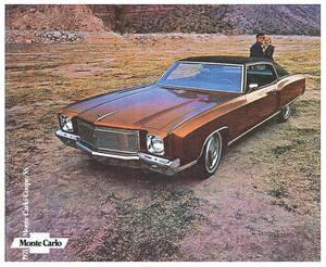 1971-1971 Monte Carlo Monte Carlo Full-Color Sales Brochure