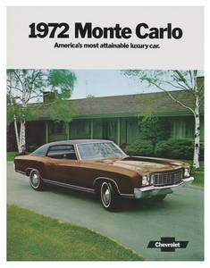 1972-1972 Monte Carlo Monte Carlo Full-Color Sales Brochure