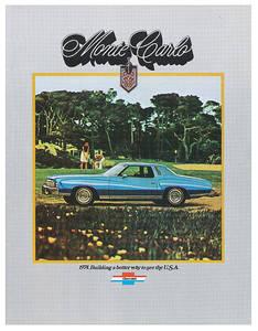 1974 Monte Carlo Full-Color Sales Brochure