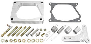1964-77 Chevelle Throttle Bracket Billet Aluminum w/Spacer, Edelbrock Proflo