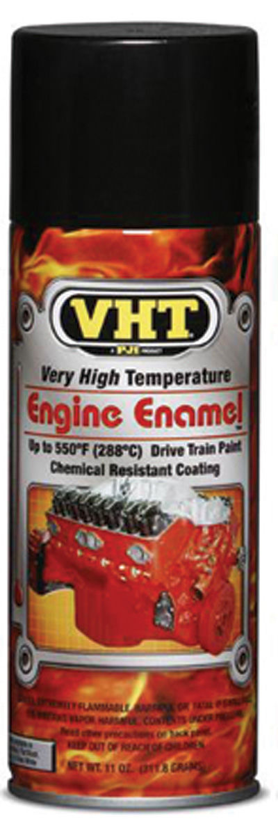 Photo of High-Temperature Engine & Drivetrain Paint - Gloss Black, 11-oz.
