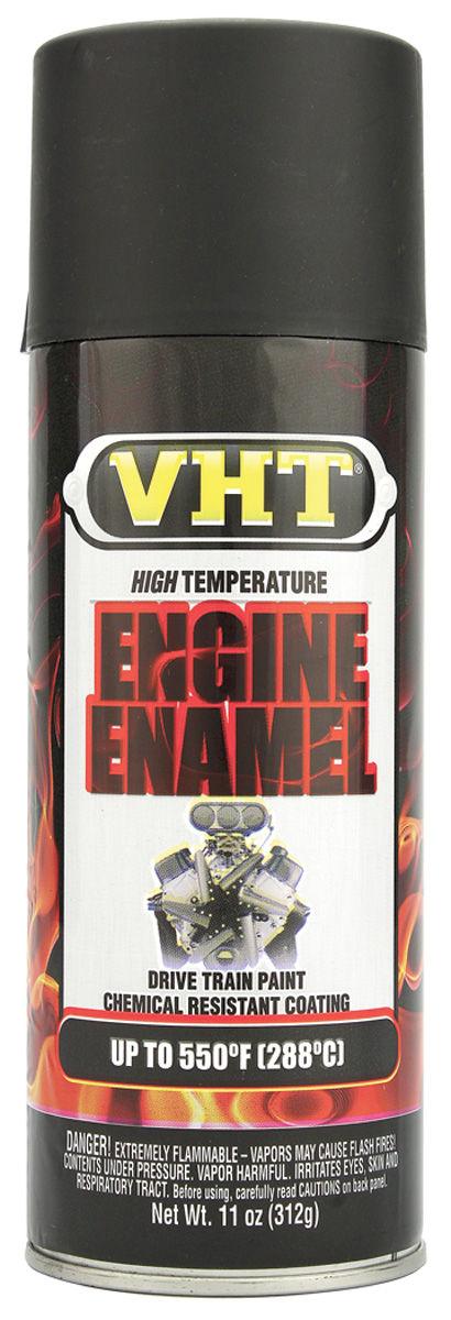 Photo of High-Temperature Engine & Drivetrain Paint - Satin Black, 11-oz.