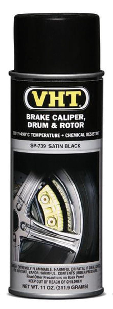 Photo of Brake Caliper & Drum Paint - Satin Black, 11-oz.