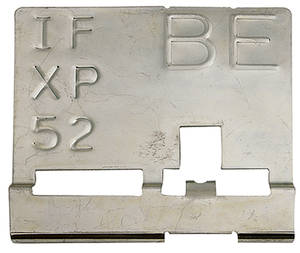 "1970-1970 El Camino Radiator Identification Tag LS5/LS6 Std Cooling, Manual – ""BQ"""