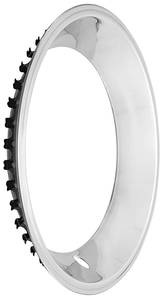 "1970-1972 Monte Carlo Wheel Trim Ring (Polished Stainless Steel) Square Lip 15"" X 7"" (2-3/8"" Deep), by U.S. Wheel"