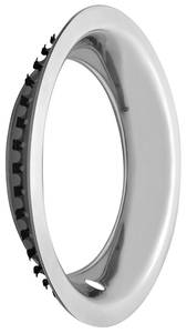 "1970-1972 Monte Carlo Wheel Trim Ring (Polished Stainless Steel) Round Lip 15"" X 8"" (3"" Deep), by U.S. Wheel"