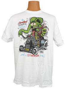 "Rat Fink T-Shirt ""The Heartbeat Stops Here!! Get The Stretcher, Pal!"""
