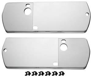 """Chevelle Armrest Base Back Plate, 1968 15-13/16"""" X 5-3/4"""", w/Ribbed Insert"""