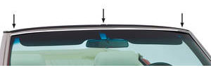 1968-72 Tempest Convertible Top Header Panel Vinyl Strip, by PUI