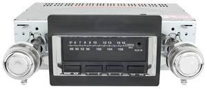 1970-72 Chevelle Stereo, Vintage Car Audio 300 Series Black - SS