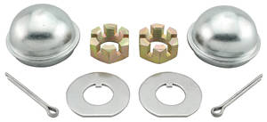 Chevelle Spindle Nut & Cap Kit, 1964-77