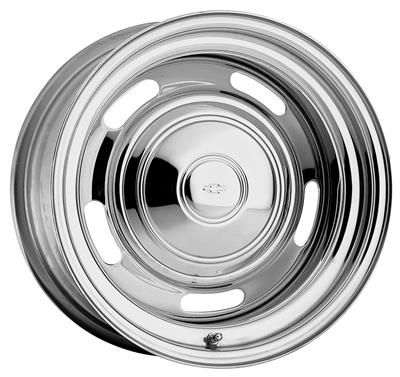 "1964-1977 Chevelle Wheel, Rally (Chrome) 14"" Wheels 14"" X 7"" (BS 4""), by U.S. Wheel"