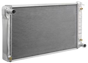 """1968-71 Skylark Radiator, Aluminum Desert Cooler V8 18-1/4"""" X 28-1/4"""" AT, Satin, Cross Flow, by U.S. Radiator"""