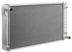 1968-77 Chevelle Radiator, Aluminum Desert Cooler Satin AT, Cross Flow