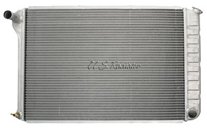 "1968-1971 LeMans Radiator, Aluminum Desert Cooler 18-1/4"" X 28-1/4"", V8 (Crossflow) Manual, Polished, by U.S. Radiator"