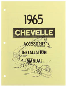 1965 Chevelle Accessory Installation Manual