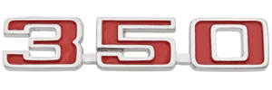 """El Camino Fender Emblem, 1973-75 """"350"""""""