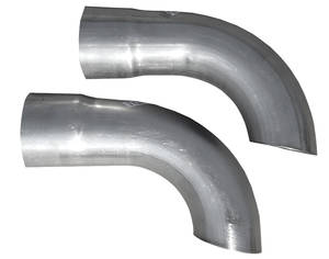 "1964-67 Catalina/Full Size Exhaust Tailpipe Conversion Assembly, Side Exit 2-1/2"" Side Exit"
