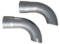 "1964-67 Grand Prix Exhaust Tailpipe Conversion Assembly, Side Exit 3"" Side Exit, by Pypes"