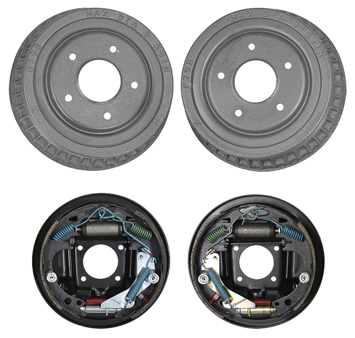 how to assemble rear drum brakes