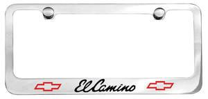 1965-1965 El Camino License Plate Frame, Designer El Camino W/Bowtie