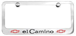 1968-69 License Plate Frame, Designer El Camino W/Bowtie