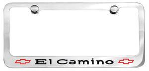 1967-1967 El Camino License Plate Frame, Designer El Camino W/Bowtie