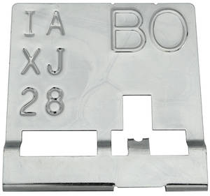 "1969 Chevelle Radiator Identification Tag 396/375 HP, Manual – ""BO"""