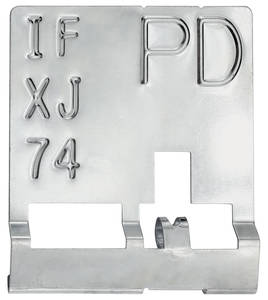 """1970 Chevelle Radiator Identification Tag LS5/LS6 HD Cooling, Auto – """"PD"""""""
