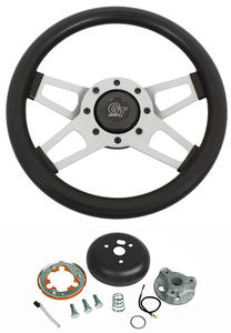 1969-77 Chevelle Steering Wheel Kits, Challenger Series Satin Wheel