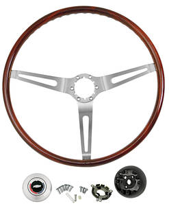 1969-1972 El Camino Steering Wheel Kits, Mahogany Wood